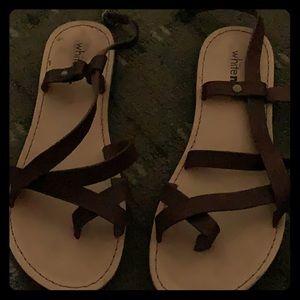 White Mt. sandals